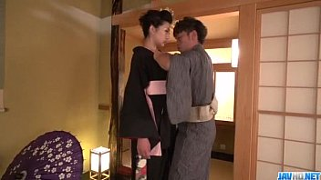 Yuna Shiratori spreads legs for a big dick to smash her cunt