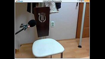 Korean girl tore her own pants