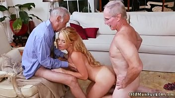Dirty old men gangbang and man fuck young girl in forest Frannkie And