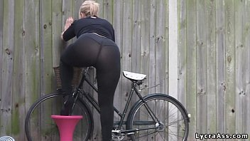 Nike ribbed bottom pants Sexy big ass in transparent lycra leggings tights thong