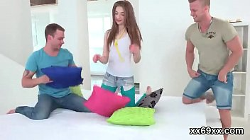 Dude assists with hymen check-up and reaming of virgin teen