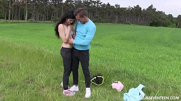 Brunette teen babe gets fucked outdoors 7 min
