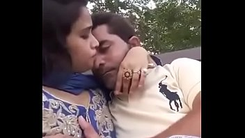 Naked cuple Boobs press kissing in park selfi video