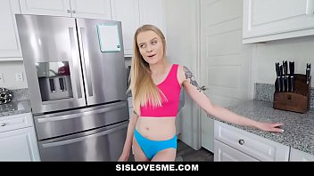 SisLovesMe - Big Brother Cock For Tiny Blonde Stepsis (Paris White)