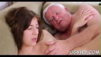 Horny young couple porn videos Brave young girl drilled by old rod