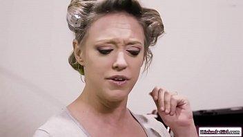 Busty babe facesiting lesbian milf gf