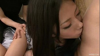 Satomi has her furry pussy fondled and fucked hard