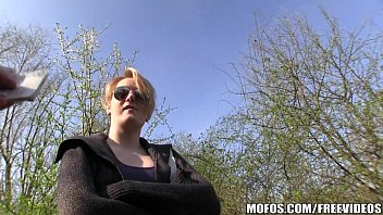 Blonde Czech with perfect tits is paid to flash and fuck thumbnail