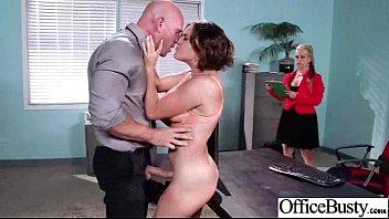 Slut Girl (krissy lynn) With Big Melon Tits Banged In Office clip-24