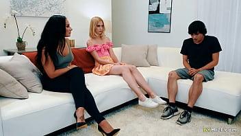 Chloe Cherry and Sheena Ryder having dirty family threesome