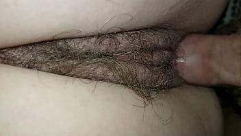 Smashing Young Amateur Teen's Tight Hairy Sloppy Wet Pussy Bareback Close-up