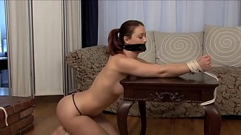 Barefoot princes femdom - Karlie montana tied up, gagged, naked. plus outtakes