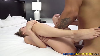 Young beauty pounded and fed with cum at fake casting