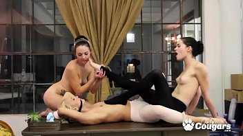 Horny Girlfriends Have A Lesbian Threesome After Dance Class