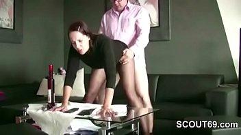 German MILF Hooker in Nylon get Fuck for Money