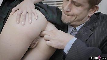 Schoolgirl Lola Fae anal gape trained by sugar daddy