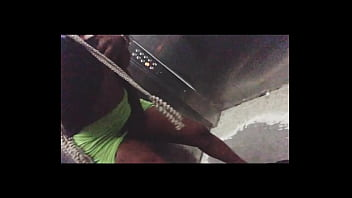 I seduced my brother's friend at the lift and made him fucked be in our Kitchen