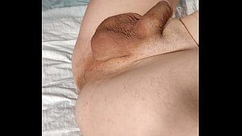 Cumshot after anal fingering, prostate massage and spanking – Femdom