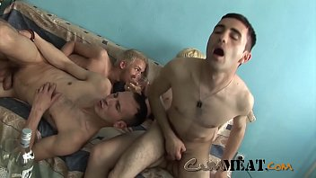 Cum Meat - Crazy Gay Group Sex Orgy Party
