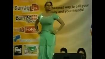 Paki Booby Stage Acctress Saima Khan shaking big boobs on stage thumbnail