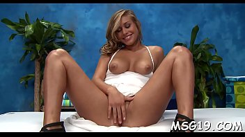 Frisky gal gets hot and stuffs her mouth and pussy with pecker