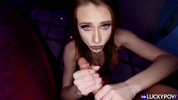 Footjob and Hardfuck with Skinny beauty Anya Olsen - Mr Lucky POV