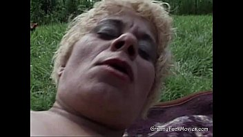 Thirsty Granny Loves Solo Outdoor