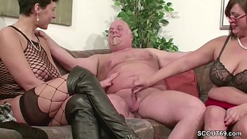 Old milfs thumbnails - German milf and mature fuck with old man in threesome