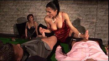 Sofia Cucci in black stockings fucked on the billiard table 10 min