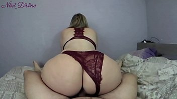 He fucks the big ass of his neighbor slut in hot sexy lingerie!