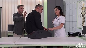 Busty Nurse Tigerr Benson Enjoys intense DP Fuck session