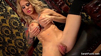 Sarah Jessie plays with her pussy