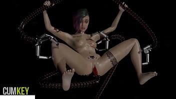 Judy in Trouble Cyber tentacles Cyberpunk 2077