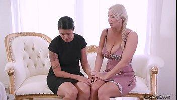 MILF Lesbian Anal Fucks Blonde
