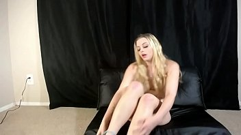 This Blonde Whore Masturbating for you
