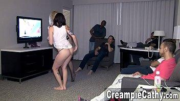 Her 1st Creampie Gangbang - Maci 14 min