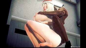 Interracial 3D sex game play 9 min