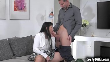 Horny woman sucking cocks - Sexy gilf sissy visited her horny lover toby. she wants more than a visit and started sucking his cock then got fucked all over the place.