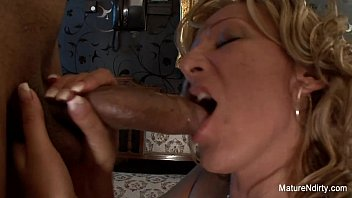 Blonde Granny gets interracial anal