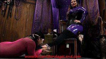 Transvestite femdom clips Pedicure bargain - foot fetish mistress worship aliceinbondageland