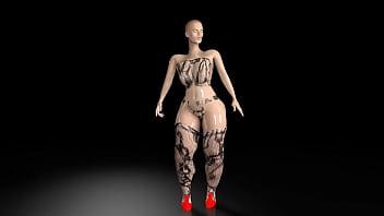 Big Butt Booty 3D Models 12 sec