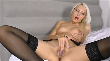 Creamy pussy fingering and Squirt cum (Helena Moeller)