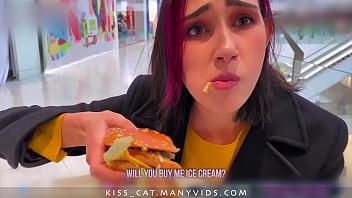 Risky Blowjob in Fitting Room for Big Mac - Public Agent PickUp & Fuck Student in Mall / Kiss Cat Porno indir