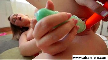Lots Of Things As Sex Toys For Horny Girl To Play video-04