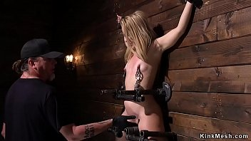 Blonde in device bondage pussy beaten preview image