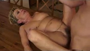 Old woman fucked in kitchen Fucking a horny grandma in the kitchen