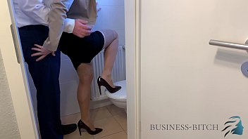 Adult e business Fucked by boss on office restroom, business bitch