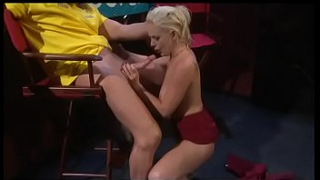 Young greenhorn blonde reporter Missy Monroe needs to take interview from hard-hitting pornstar Evan Stone