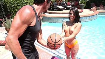 FILF - Naughty Brazilian Teen Gina Valentina Poolside Fuck With Neighbor