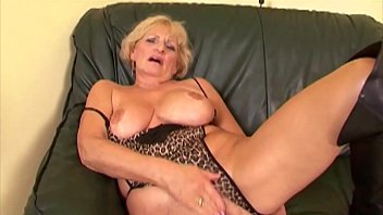 60 s nude grandma Grandma puts on her sexiest lingerie drains two young cocks